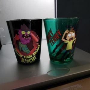 🍁 Rick and morty shot glass set